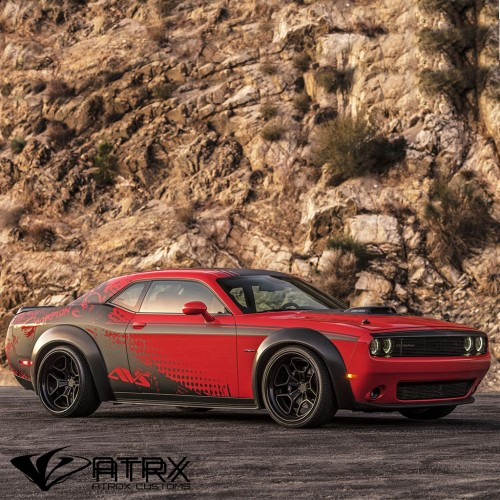 Wide Body Kit Cantoneras Salpicaderas Dodge Challenger 2008 - 2018
