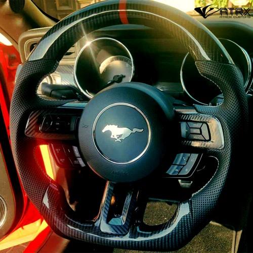 Volante Deportivo Carbono Alcantara Ford Mustang 2010 - 2017