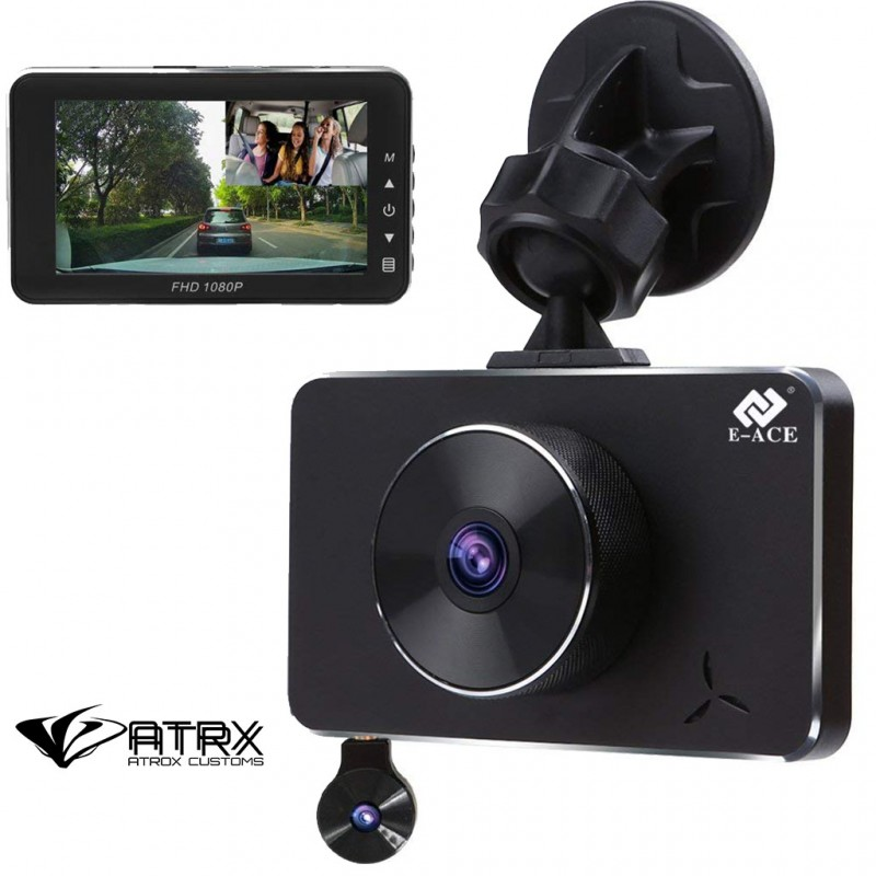 Dash Cam Doble Cámara Parking Monitor Full HD 1080p