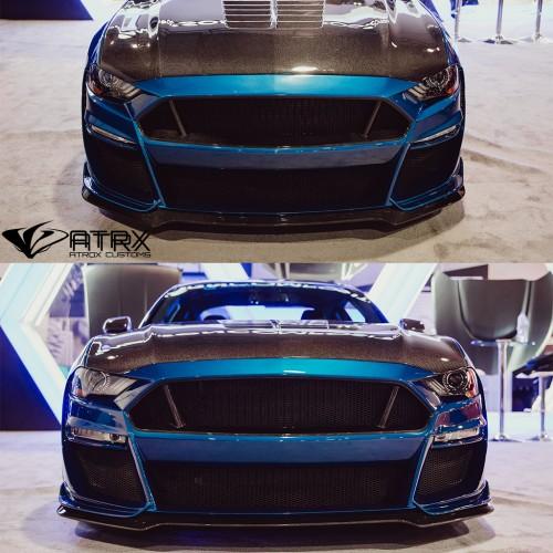 Fascia Frontal Parrilla Lip TYPE-ST FIBERGLASS Anderson Ford Mustang 2018 - 2019