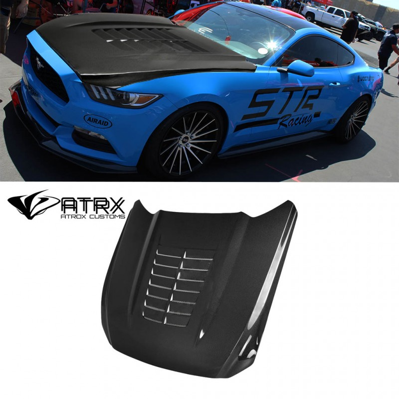 Cofre Capo TYPE-GT5 Carbono Anderson Ford Mustang 2015 - 2017