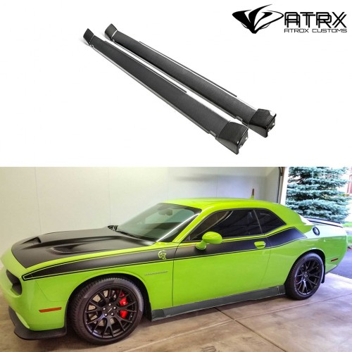 Estribos Faldones Laterales Wide Body Carbono Dodge Challenger Hellcat 2018