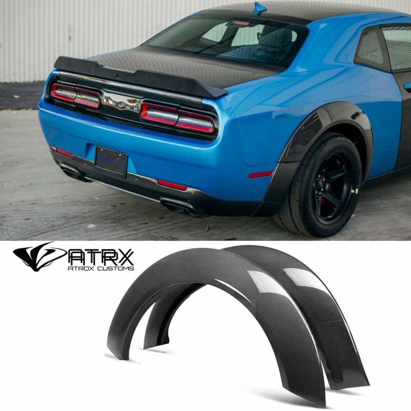 Salpicaderas Cantoneras Traseras Wide Body Demon Carbono Dodge Challenger Hellcat 2018