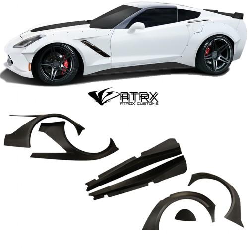 Wide Body Kit Gran Veloce FRP Chevrolet Corvette C7 2014 - 2019
