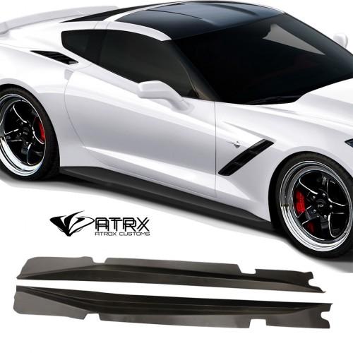 Estribos Laterales Faldones Gran Veloce FRP Chevrolet Corvette C7 2014 - 2019