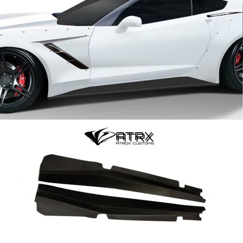 Wide Body Estribos Gran Veloce FRP Chevrolet Corvette C7 2014 - 2019