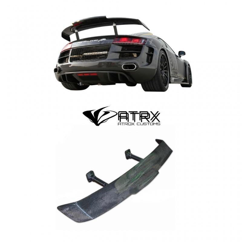 Alerón Spoiler trasero Razor PPI Style Fibra Carbono AUDI GT R8 V8 V10 2008 - 2014