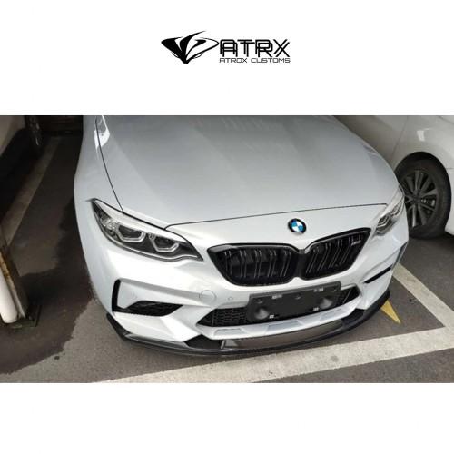 Lip Bumper Frontal Splitter GTS Carbono BMW M2 F87 2017 - 2019