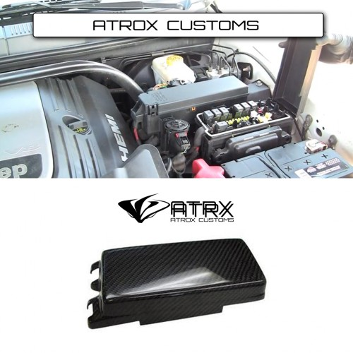 Cubierta Caja Fusibles Chica Carbono Jeep Grand Cherokee 2005 - 2010