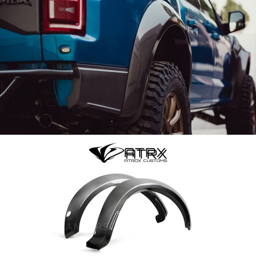 Cantoneras Traseras Type-Wide Carbono Ford F150 Raptor 2017 - 2019