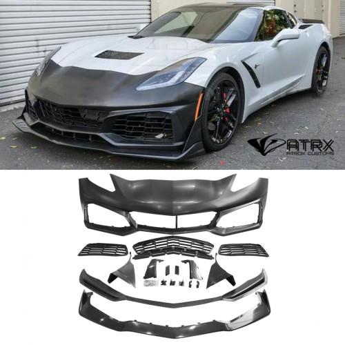 Fascia Frontal Conversion Kit PP ZR1 Style Chevrolet Corvette C7 2014 - 2018