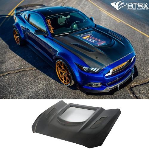 Cofre Capo Carbono Ventana Ford Mustang 2015 - 2017
