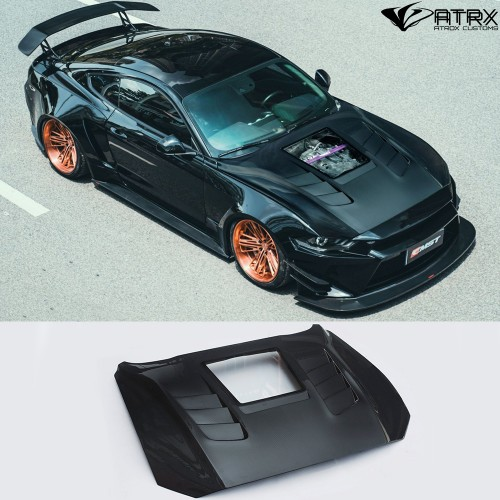 Cofre Capo Carbono Ventana Ford Mustang 2018 - 2020