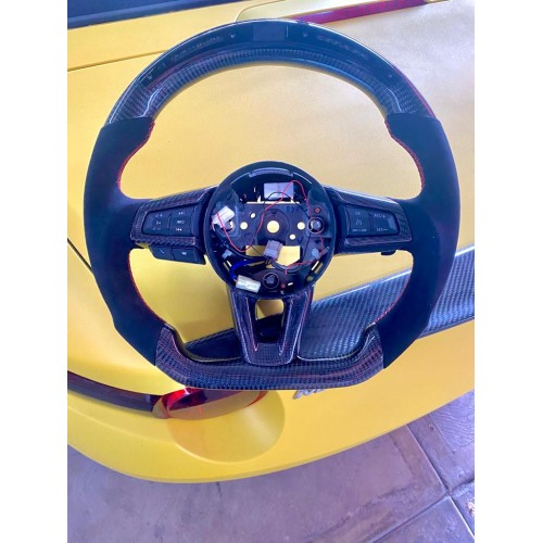 Volante Deportivo LED Carbono Alcantara Mazda MX5 2016 - 2021 En Stock!