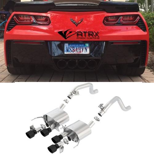 Sistema Escapes Axleback Borla ATAK Black Chevrolet Corvette 2014 - 2019