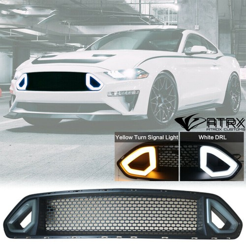 Parrilla Defensa Frontal LED RTR Ford Mustang 2018 - 2020