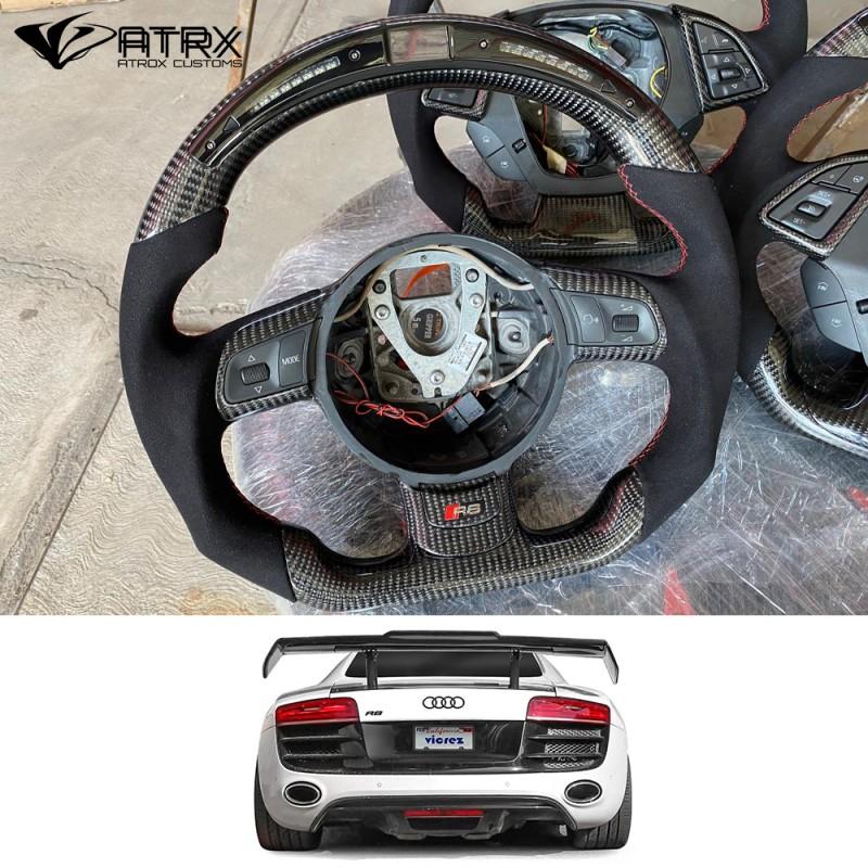 Volante Deportivo Fibra Carbono Piel Led Audi R8 2008 - 2015 EN STOCK!