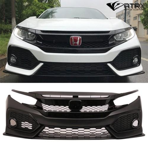 Fascia Defensa Parrilla Frontal SI Plástico Honda Civic 2016 - 2018