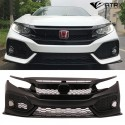 Fascia Defensa Parrilla Frontal Type R Plástico Honda Civic 2016 - 2018