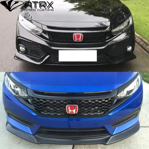 Fascia Defensa Parrilla Frontal 10 Plástico Honda Civic 2016 - 2018