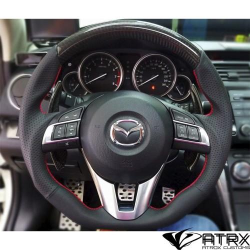 Volante Deportivo Fibra Carbono Piel Mazda 2 3 CX3 CX5 2013 - 2018