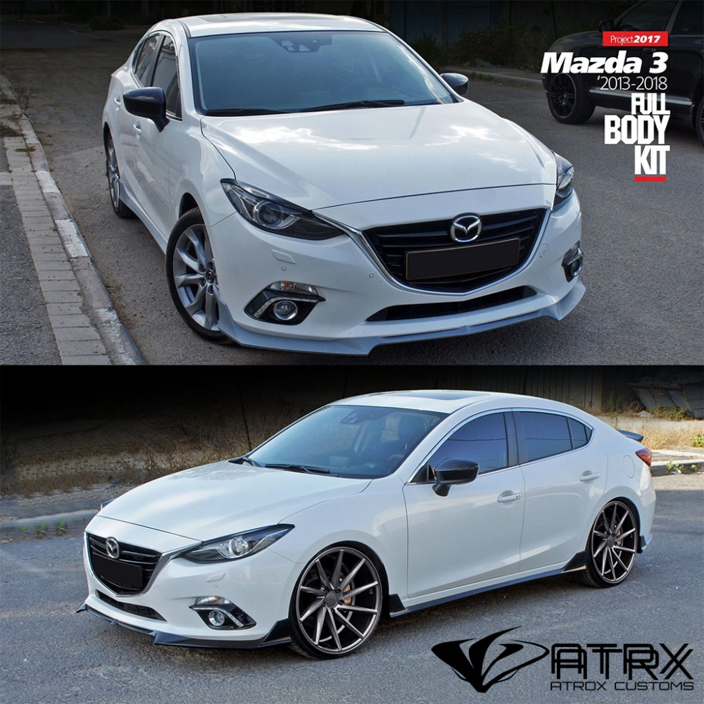 Body Kit Lip Estribos Difusor Faldones Israel Mazda 3