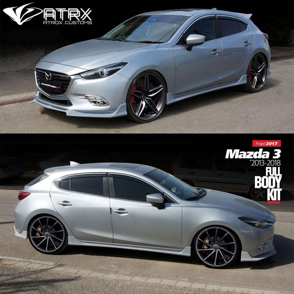 2017 Mazda3 Hatchback >> Body Kit Lip Estribos Faldones Israel Mazda 3 Hatchback ...
