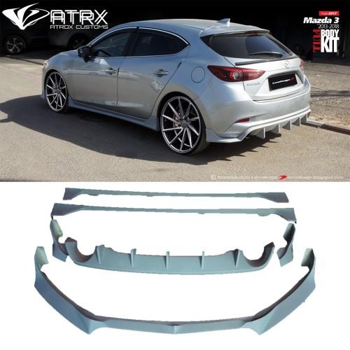 Body Kit Lip Estribos Difusor Faldones Israel Mazda 3 Hatchback 2014 - 2018