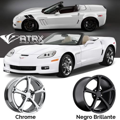 "4 Rines Grand Sport 17 18 19"" 5x4.75 Chevrolet Corvette C6 C7 2005 - 2018"