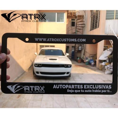 Marco Porta Placas ATROX CUSTOMS Edición Especial