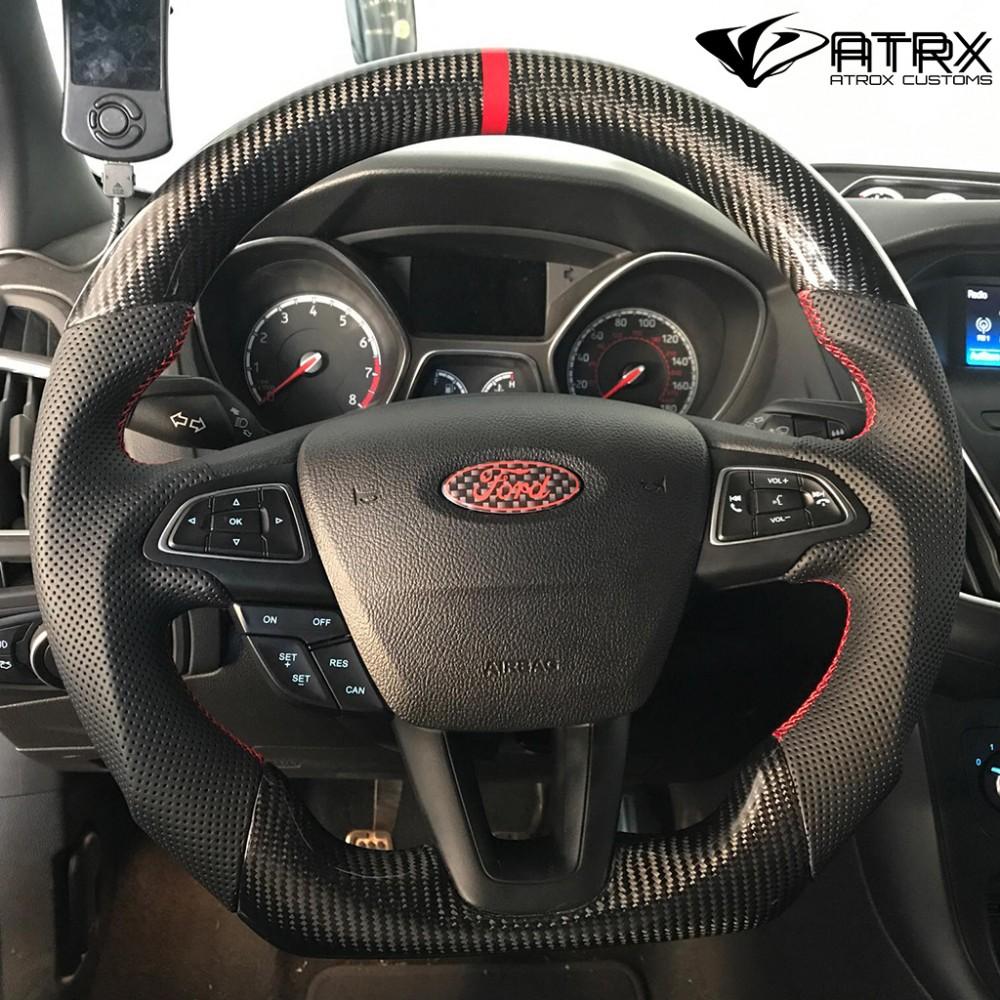 Volante Deportivo Carbono Alcantara Piel Ford Focus Se St